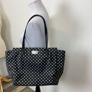 Kate Spade Black Purse With White Polka Dots